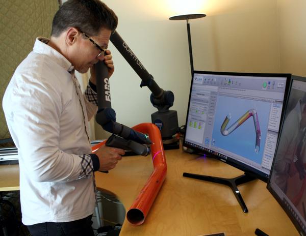 VTube LASER Software Ingeniería Inversa exostos inspección tubos tuberías escape FARO Colombia Venezuela Ecuador Peru dobladoras CNC tubeshaper